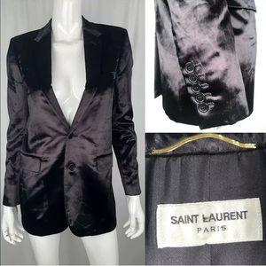 Yves Saint Laurent Paris Silk Blazer Jacket YSL 38